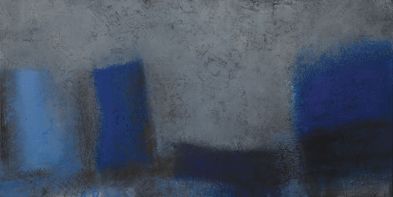 Stll Life Grey and Blue 2015 98 x 195 cm