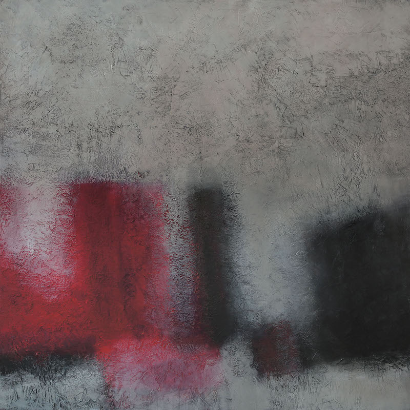Still Life Red and Grey 2015 150 x 150 cm